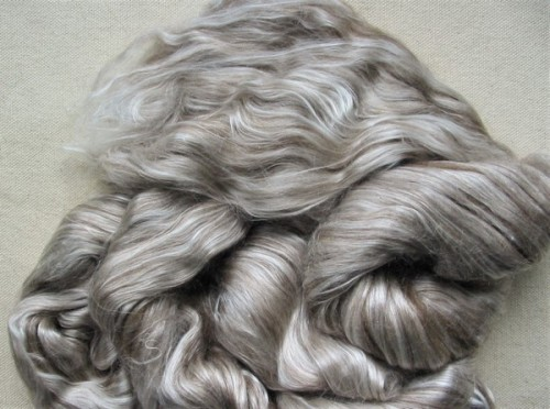 light brown yak/silk top