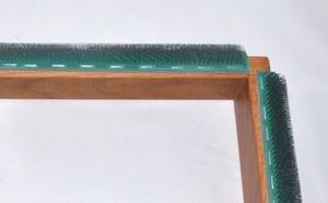 punch needle frame close up