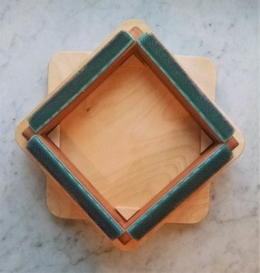 punch needle frame on turntable