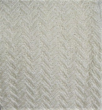 solid white herringbone