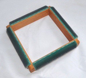 punch needle frame from above