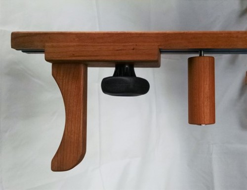 Wooden handle to turn arms