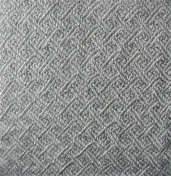 white/gray plaited twill