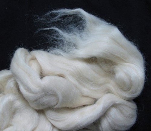 white alpaca/silk top